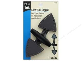 Dritz Fashion Toggle Closure Sew-On Gray