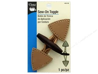 Dritz Fashion Toggle Closure Sew-On Beige