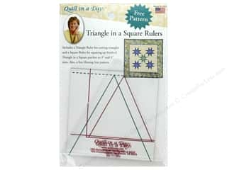 Quilt In A Day Ruler Triangle in a Square