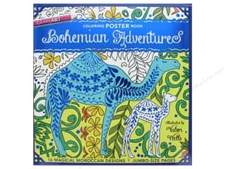 Clearance: Bohemian Adventures Coloring Poster Book: 16 Magical Moroccan Designs by Valori Wells
