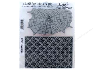 stamps: Tim Holtz Cling Mount Stamp Set 2 pc. Webs & Damask