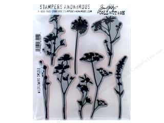 Tim Holtz Cling Mount Stamp Set 8 pc. Wildflowers