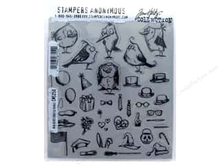 stamp: Tim Holtz Cling Mount Stamp Set 37 pc. Bird Crazy & Things