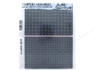 Tim Holtz Cling Mount Stamp Set 2 pc. Tiles & Mosaic