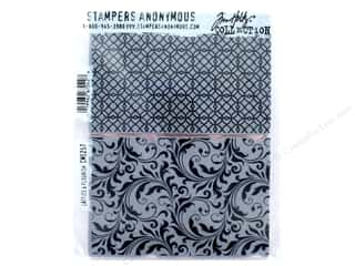 Tim Holtz Cling Mount Stamp Set 2 pc. Lattice & Flourish