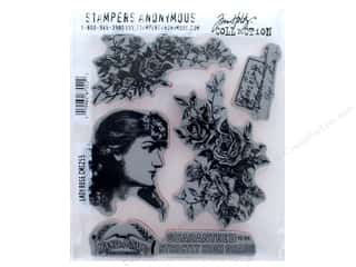Tim Holtz Cling Mount Stamp Set 5 pc. Lady Rose
