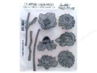 Tim Holtz Cling Mount Stamp Set 9 pc. Flower Garden