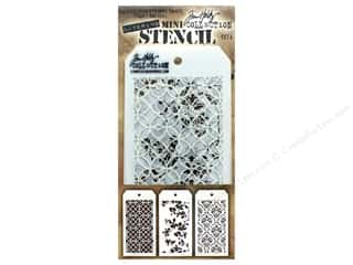 craft & hobbies: Stampers Anonymous Tim Holtz Layering Mini Stencil Set #4