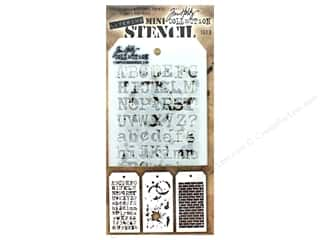 craft & hobbies: Stampers Anonymous Tim Holtz Layering Mini Stencil Set #3