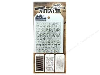 alphabet: Tim Holtz Layering Stencil Set Mini #8