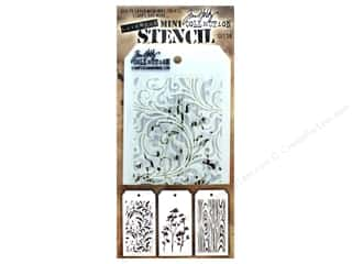 craft & hobbies: Stampers Anonymous Tim Holtz Layering Mini Stencil Set #10