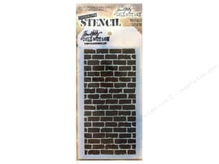 craft & hobbies: Stampers Anonymous Tim Holtz Layering Stencil - Bricked