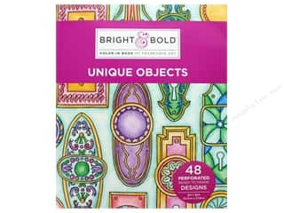 books & patterns: Darice Bright & Bold Color-In Book of Frameable Art: Unique Objects