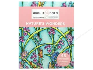 books & patterns: Darice Bright & Bold Color-In Book of Frameable Art: Nature's Wonders