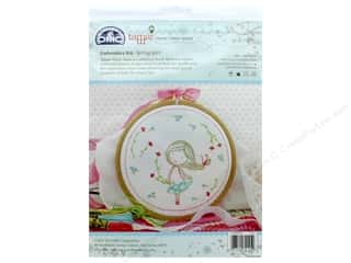 projects & kits: DMC Embroidery Kit Spring Girl