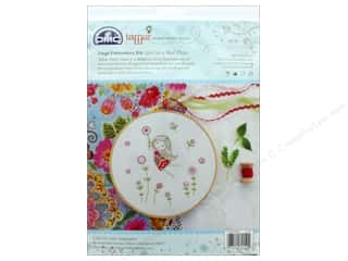 projects & kits: DMC Embroidery Kit Large Girl In Red Dress
