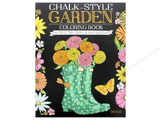 books & patterns: Chalk-Style Garden Coloring Book: Color With All Types of Markers, Gel Pens & Colored Pencils by Deb Strain