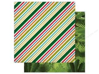 Echo Park 12 x 12 in. Paper Jungle Safari Collection Jungle Stripes (25 pieces)