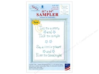 "yarn & needlework: Jack Dempsey Sampler 11x14"" Kiss Me Goodnight Wht"