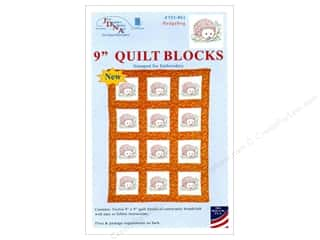 "Weekly Specials: Jack Dempsey 9"" Quilt Blocks 12pc Hedgehogs"