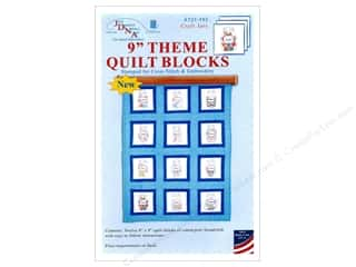 Jack Dempsey 9 in. Theme Quilt Blocks Craft Jars 12 pc
