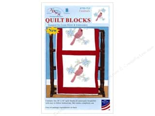 "yarn & needlework: Jack Dempsey Quilt Block 18"" 6pc White Cardinal"