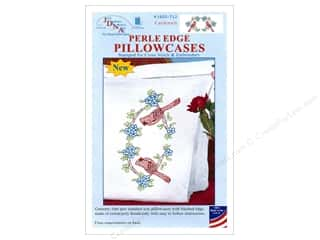 Jack Dempsey Pillowcase Perle Edge White Cardinal