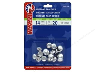 Buttons: Maxant Cover Button Refills 1/2 in. 14 pc.