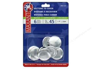 projects & kits: Maxant Cover Button Refills 1 1/2 in. 6 pc.