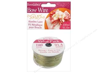 Gifts & Giftwrap: Darice Bowdabra Wire Gold 100yd
