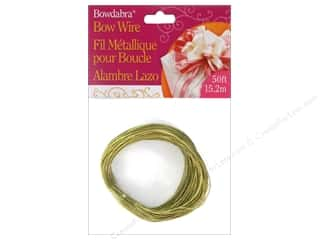 gifts & giftwrap: Darice Bowdabra Bow Wire 50 ft. Gold