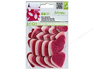 craft & hobbies: CPE Stick-It Felt Shapes Hearts 72 pc.