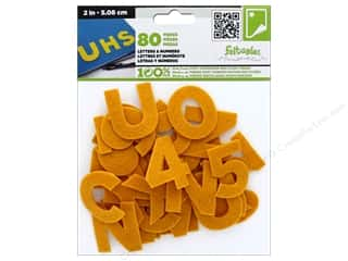 yellow and gold felt: CPE Stick-It Felt Letters & Numbers 2 in. Gold