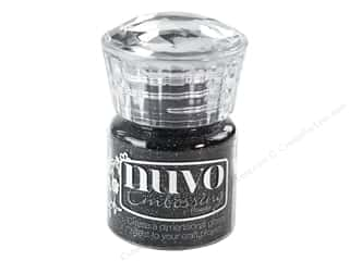 Nuvo Embossing Powder Glitter Noir .7 oz