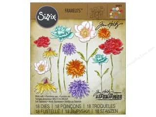 die cuts: Sizzix Framelits Die Set 18 pc. Flower Garden & Mini Bouquet