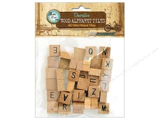 craft & hobbies: BCI Crafts Salvaged Alphabet Tiles Mini 40pc