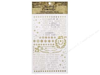 Tim Holtz Idea-ology Remnant Rubs Gilded Christmas