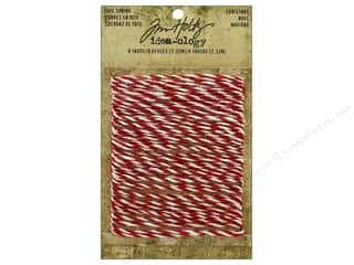 christmas ribbon: Tim Holtz Idea-ology Jute String Christmas