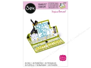 die cutting machines: Sizzix Dies Stephanie Barnard Framelits Card Stand Ups Square