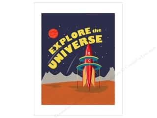 "craft & hobbies: Carta Bella Collection Space Academy Art Print 11""x 14"" Explore The Universe"