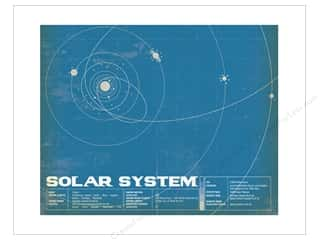 "craft & hobbies: Carta Bella Collection Space Academy Art Print 11""x 14"" Solar System"