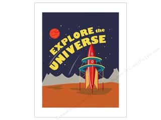 "craft & hobbies: Carta Bella Collection Space Academy Art Print 8""x 10"" Explore The Universe"