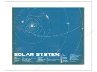 "craft & hobbies: Carta Bella Collection Space Academy Art Print 8""x 10"" Solar System"