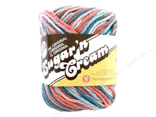 Yarn & Needlework: Sugar 'n Cream Yarn 95 yd. Coral Seas Ombre