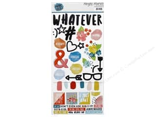 """Simple Stories: Simple Stories Collection #Whatever Sticker 6""""x 12"""" 12pc (12 pieces)"""