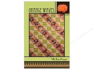 Villa Rosa Designs Orange Waves Pattern Card