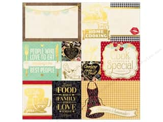 vellum: Bo Bunny 12 x 12 in. Vellum Kiss The Cook Foil (12 pieces)