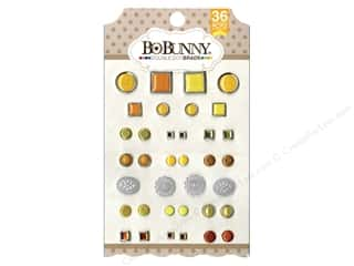 Bo Bunny Double Dot Brads 36 pc. Citrus