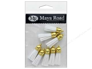 Maya Road Products Vintage Tassels Gold Cap Milk White