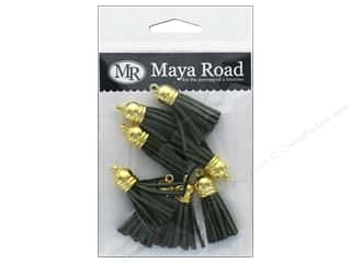 Maya Road Products Vintage Tassels Gold Cap Pine Green
